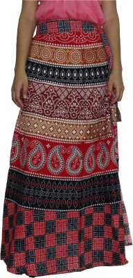 Freedom Daisy Solid Women's Regular Multicolor Skirt