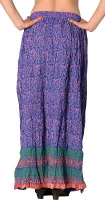 SBS Printed Women's Regular Dark Blue Skirt