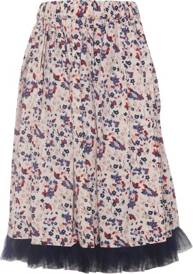 Parv Collections Printed Girl's Regular Multicolor Skirt