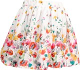Bella Moda Printed Girls Gathered Multic...