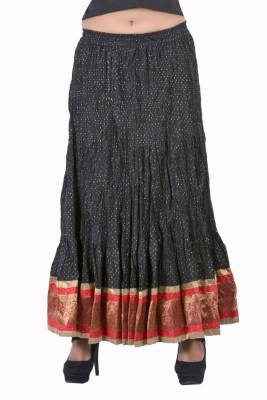 Jaipur Kala Kendra Solid Women's Regular Black Skirt