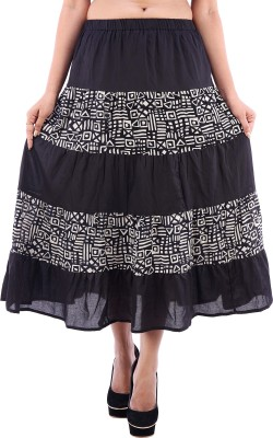 Goodwill Impex Solid Women's A-line Black Skirt