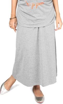 Nine Maternity Wear Solid Women's A-line Grey Skirt