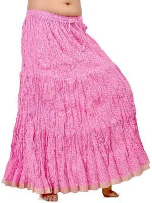 Jaipur Raga Printed Women's Regular Pink Skirt