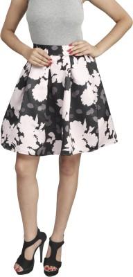 Naitik Printed Women's Regular Black, Purple Skirt
