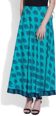Very Me Floral Print Women's A-line Blue Skirt