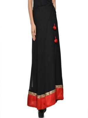 Hoor Solid Women's A-line Black Skirt