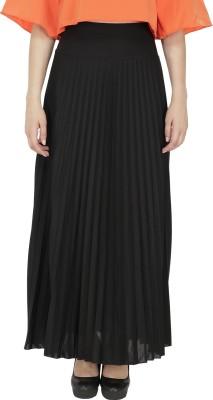FASHMODE Solid Women's Pleated Black Skirt