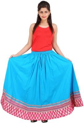 Sunshine Solid Women's A-line Blue Skirt