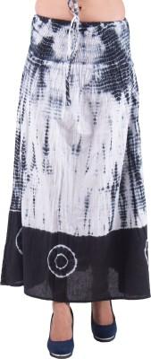 Indi Bargain Self Design Women's A-line Black, White Skirt