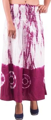 Indi Bargain Self Design Women's A-line Green, White Skirt