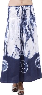 Indi Bargain Self Design Women's A-line Blue, White Skirt
