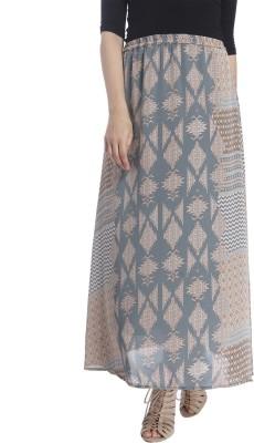 Vero Moda Printed Women's Regular Green Skirt at flipkart