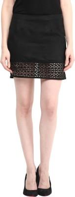 Taurus Solid Women's Pencil Black Skirt