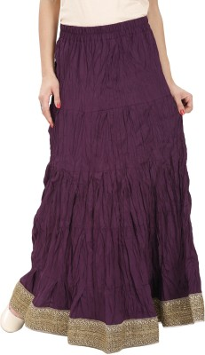 The Doyle Collection Solid Women's Wrap Around Purple Skirt