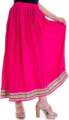 JaipurRaga Printed Women's Wrap Around Pink Skirt