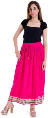 Sunshine Self Design Women's Regular Pink Skirt