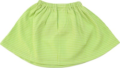 Romano Solid Baby Girl's A-line Green Skirt