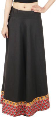 DConcept Solid Women's Regular Black Skirt