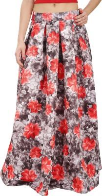 Svt Ada Collections Floral Print Women,s Regular Grey Skirt