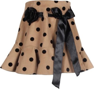 Cutecumber Polka Print Baby Girl's A-line Beige Skirt