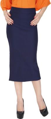 Svt Ada Collections Solid Women's Pencil Dark Blue Skirt