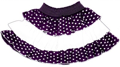 Gkidz Polka Print Girl's A-line Purple Skirt