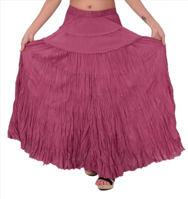 Skirts & Scarves Solid Women's A-line Purple Skirt