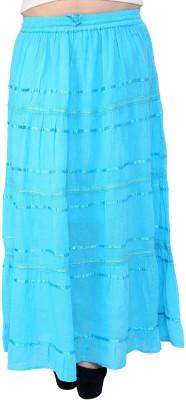 Rvestir Solid Women's A-line Blue Skirt