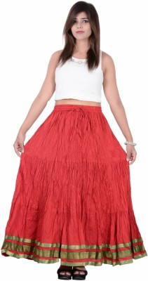 Jaipur Kala Kendra Solid Women's Regular Red Skirt