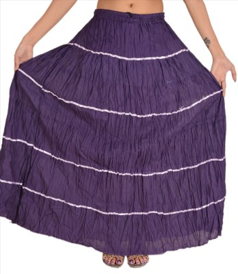 Skirts & Scarves Solid Women's Tiered Purple Skirt