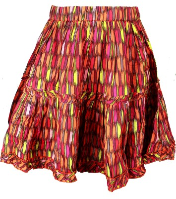 ShopperTree Printed Girls A-line Multicolor Skirt