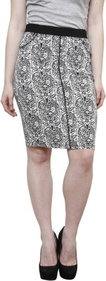 Westwood Graphic Print Women's Wrap Around Black Skirt