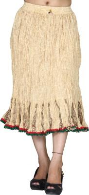 Chhipaprints Printed Women's Regular Beige Skirt