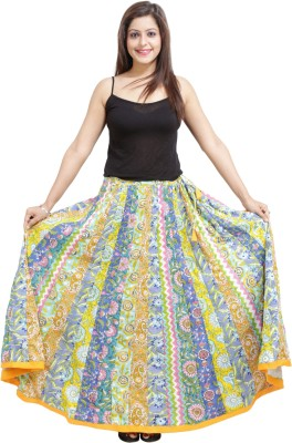 Ceil Printed Women's Regular Multicolor Skirt