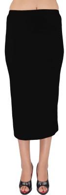 SHYIE Solid Women,s Pencil Black Skirt