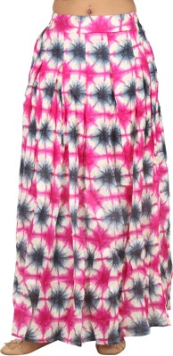 LondonHouze Floral Print Women's Pleated Pink Skirt