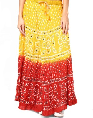 Rastogi Handicrafts Applique Womens Regular Multicolor Skirt