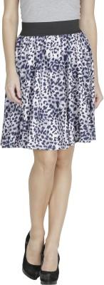 Shopping Villa Animal Print Women's A-line Blue Skirt
