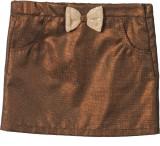 Beebay Solid Girls A-line Brown Skirt