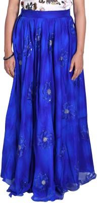Kaaj Designs Embroidered Women's Bubble Blue Skirt