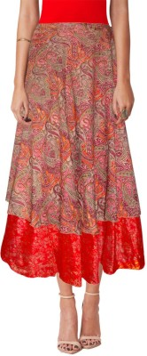 Sttoffa Printed Women,s Wrap Around Multicolor Skirt