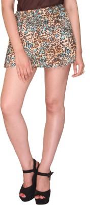 Bedazzle Printed Women's Regular Brown, Blue Skirt at flipkart