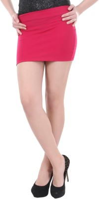 Street 9 Solid Women's Tube Pink Skirt