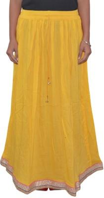 Shreeka Solid Women's Regular Yellow, Blue Skirt