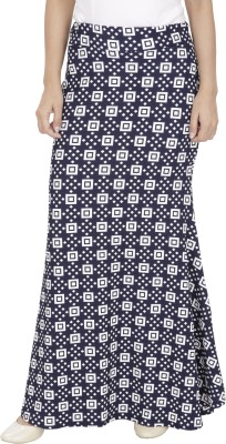 Franclo Solid Women,s Gathered Blue, White Skirt