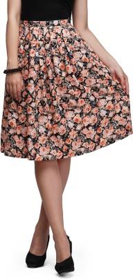 Eavan Self Design Women's Gathered Multicolor Skirt at flipkart