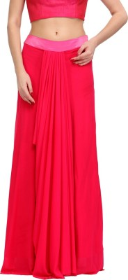 Just Wow Solid Women's Straight Pink Skirt