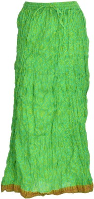 Freedom Daisy Printed Women's Regular Green Skirt
