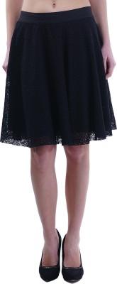 Merch21 Woven Women's Gathered Black Skirt